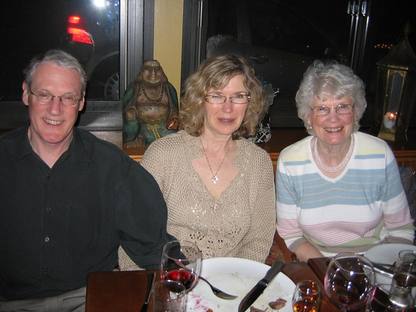 Tom and Maryanne Kiely of Rockport, along with Jane Kiely of Fairpond, N.Y. (right), attended a night of Shakespeare at a benefit dinner for the Cape Ann Shakespeare Troupe.