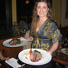 Jen Waitkus, general manager of Alchemy Bistro, serves up venison at a fund-raising dinner featuring an evening of Shakespearean food and entertainment, in which the menu and wine were inspired by food of 1600s, from the era of the bard himself.