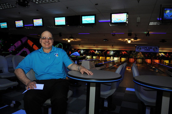 Gloucester: Al Gangi, owner of Cape Ann Lanes, has owned the local bowling alley for the past year. Photo by Desi Smith.