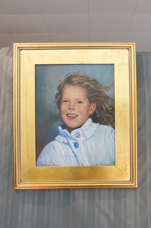 A portrait of Olivia Peavy of Rockport painted by Luisa F.V. Cleaves in Cleaves' Rockport Gallery. Photo by Mary Muckenhoupt