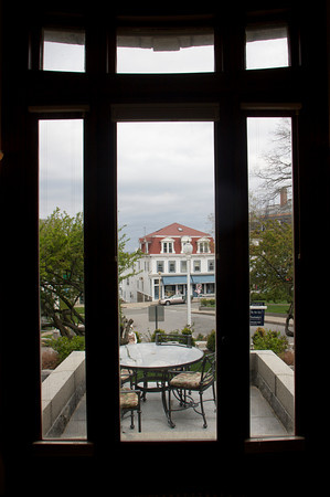 The view of downtown Rockport seen from the living room of David and Gail Vastola's home that was once the old Carnegie Library in Rockport. Photo by Mary Muckenhoupt