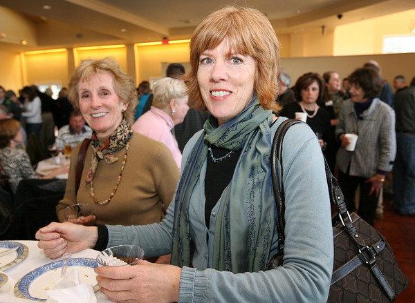Gloucester: Ann McKay and Sharon Bragg of Gloucester sampled food at the Taste of Cape Ann at Cruiseport. Photo by Kate Glass/Cape Ann Magazine