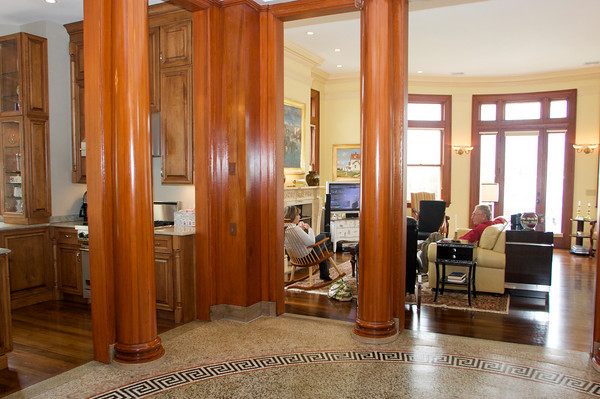 David and Gail Vastola took the dilapidated Carnegie Library in Rockport and turned it into their home. Photo by Mary Muckenhoupt