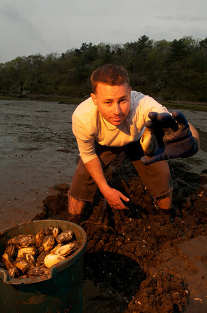 Rich Bonfanti, 24, of Gloucester is currently the youngest commerical fisherman in Gloucester.<br /> Photo by Desi Smith.