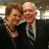 Bea Waring of Rockport and her husband, Bayard Waring, attend Sinikka Nogelo's retirement party at Cruiseport. Photo by Kate Glass