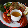 Seaport Grille's baked stuffed lobster features lobsters from Captain Joe & Sons in East Gloucester. Photo by Kate Glass