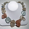 Be bold with this chunky and stylish, Aquamarine and Morganite necklace, Jewelry by Mahri, $2,992