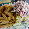 The lobster roll with french fries. Photo by Kate Glass