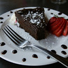 The flourless chocolate cake. Photo by Kate Glass