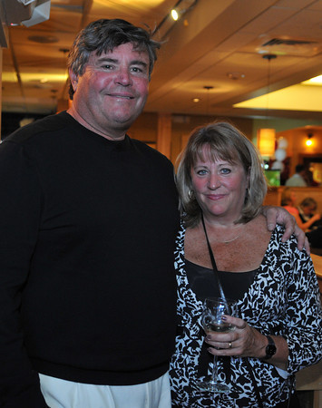 Gloucester: Bill Goodwin and his wife, Debbie, attend a fund raiser for the GHS Athletics, at Lattatude 45 on Thursday night.Desi Smith Photo/Gloucester Daily Times. April 29,2010.