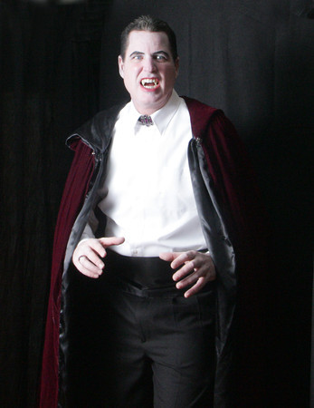 Larry Cook makes a fierce (but dashing) Count Dracula at the 2010 WaxWorks. Photo by Mary Muckenhoupt.