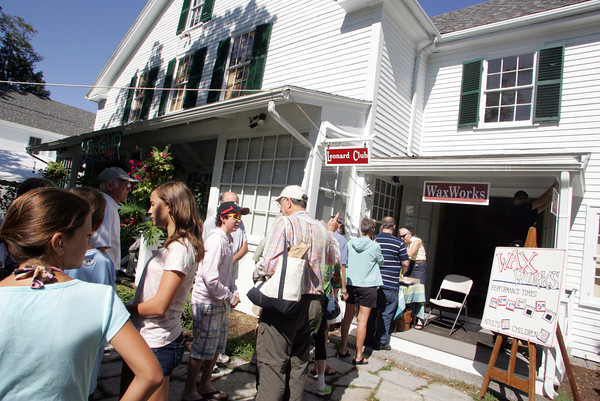 The second floor at the historic Annisquam Village Hall goes dead black. WaxWorks has been a summer tradition in Annisquam since 1952.  <br /> Photo by Mary Muckenhoupt.