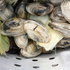 Clams go on the top of the pot for a clam bake.<br /> Photo by Amy Sweeney
