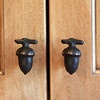 The kitchen cabinet knobs are in the shape of twigs and acorns in Joyce Fossa's Rockport home.<br /> Photo by Amy Sweeney.