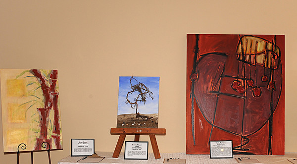 Gloucester: These were just some of the pieces of art that went up for silent auction by local Artist's Elynn Kroger, Brenda Malloy and Ruth Mordecai at Cruiseport, for the Stage Company Gala held Friday May 20th. Desi Smith/Gloucester Daily Times.