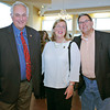 Gloucester, City Councilor Joe Ciolino, Mayor Carolyn Kirk and Joe Weglarz attended the fundraiser, for the Gloucester Stage Company held at Cruiseport May 20,2011. Desi Smith/Gloucester Daily Times.