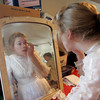 Molly Thurman puts on her make-up for Grace Kelly for the 2010 WaxWorks. Photo by Mary Muckenhoupt.
