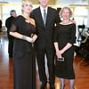 Gloucester, Heidi Dallin,  Alan Joslin and Deborah Epstein of Epstein and Joslin Architects out of Cambridge who designed the Shalin Liu Performance Center in Rockport, pose for a photo while at a fundraiser for the Gloucester Stage Company, held at Cruiseport May 20,2011 Desi Smith/Gloucester Daily Times.