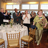 Gloucester, Barbara Hargrove is applauded after she received a glass plaque from Robert Boulrice treasurer of the Gloucester Stage Company, at a fundraiser held at Cruiseport May 20,2011 for her many years at the Stage Company,she leaving this year. Desi Smith/Gloucester Daily Times.