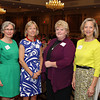 Courtesy photo/Gloucester Daily Times. Gloucester: At the Women Honoring Women Luncheon on May 7.  Wellspring's Executive Director, Kay O'Rourke (left) and Board Chair, Caroline Hovey (right) pictured with honorees Betsy Brown, a long-time Wellspring volunteer from Manchester, and Julie LaFontaine,  the Executive Director of the Open Door of Gloucester.