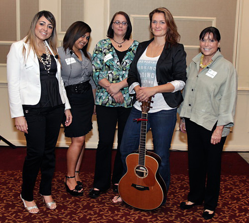 "Courtesy photo/Gloucester Daily Times. Gloucester: At the Women Honoring Women Luncheon on May 7.  Graduates from Wellspring's education programs Samara Pereira, Angelique Rodriguez and Korynne Rigolizzo shared their stories; local singer-songwriter Chelsea Berry sang Tom Petty's  ""I Won't Back Down""; and Wellspring board member and film producer Christine Lundberg showed her video ""Hope Made Real""."