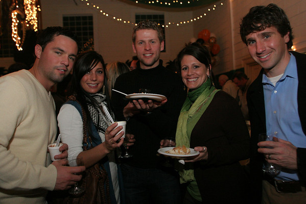 Gloucester: From left Chris Dipaolo, Krisoula Varoudakis, Regi Endriukaitis, Amanda Greaves and Matt O'Keefe attend the Taste of Magnolia Friday night. Photo by Mary Muckenhoupt