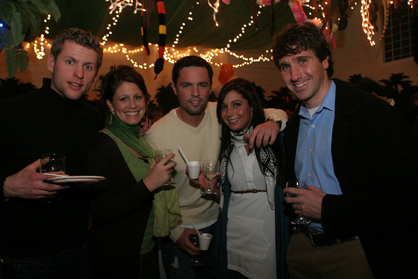 Gloucester: From left Regi Endriukaitis, Amanda Greaves, Chris Dipaolo, Krisoula Varoudakis, and Matt O'Keefe attend the Taste of Magnolia Friday night. Photo by Mary Muckenhoupt