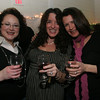 Gloucester: From left Melissa Miseraca, Carol Pallazolla and Cari Tenaglio attend the Taste of Magnolia Friday night. Photo by Mary Muckenhoupt