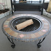 34 inch Firepit with slate, marble and copper accents. $249.98. Photo by Mary Muckenhoupt