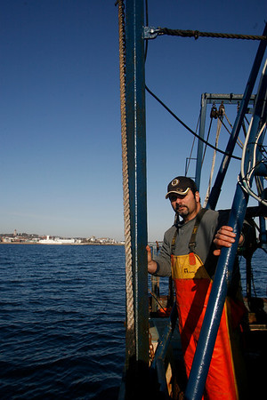 Al Cottone on his boat, The Sabrina Maria, in Gloucester Harbor. Photo by Kate Glass/Cape Ann Magazine