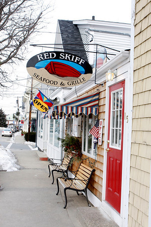 Rockport : Red Skiff located in downtown Rockport at 15 Mount Pleasant Street.