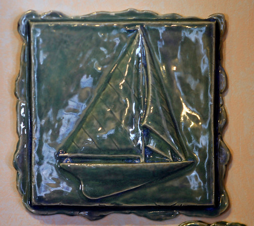 Sea Meadow Gifts, 7 Main St. Essex: Handmade decorative tiles by Robert Bliss.  $68.
