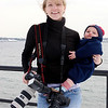 Mary Muckenhoupt with son Bailey, 6 months, has been a staff photographer for the Gloucester Daily Times for four years. Photo by Amy Sweeney/Cape Ann Magazine.
