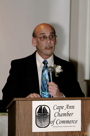 Out going President of the Chamber Steve Kaity, speeks at theCape Ann Chamber of Commerce 87th Annual Dinner-Dance Saturday, January 24, 2009 at the Tavern on the Harbor.