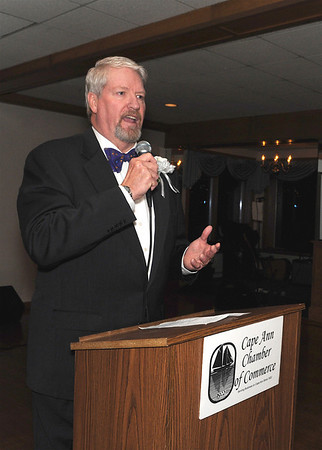 Bob Hastings the new Chamber Executive Diirector  speaks at the Cape Ann Chamber of Commerce 87th Annual Dinner-Dance Saturday, January 24, 2009 at the Tavern on the Harbor.