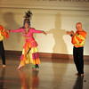 "David Adams, left, Dale Theberge, and Joe Poirier perform Carmen Miranda's "" I like you very Much.""  Photo by Desi Smith"