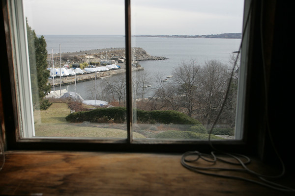 A view of Granite Pier out the window 83 Granite Street. Photo by Mary Muckenhoupt