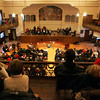 Gloucester: Hundreds of peopel filled Kyrouz Auditorium in Gloucester City Hall for the Inaguration Ceremonies Friday afternoon.  Mayor Carolyn Kirk, School Committee members and City Council members were all sworn into office.   Photo by Mary Muckenhoupt