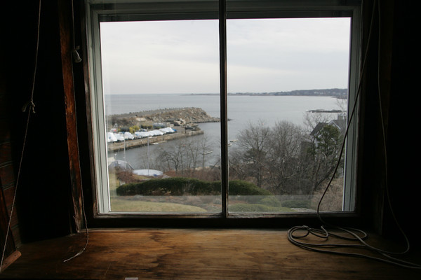 A view of Granite Pier out the window 83 Granite Street. Photo by Mary Muckenhoupt!