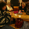 Leslie Wind, Kathleen Valentine, and Donna Demarkis knitting at the Cape Ann Brewery. Photo by Kate Glass