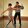 """Margi Green struts her stuff with Tom Jones, a.k.a. Joe Pourier during """"She's a Lady"""" Photo by Desi Smith."""