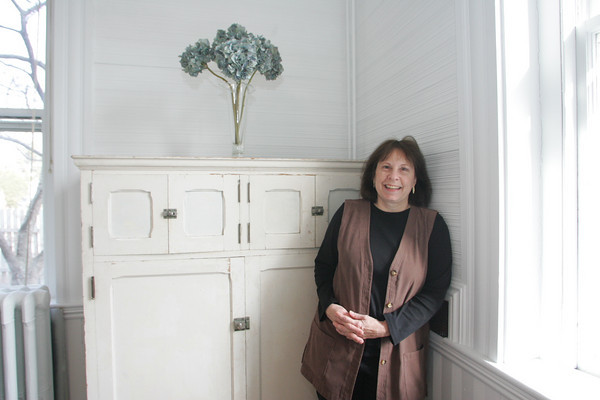 Kate Webster owns a home on 83 Granite Street which is the former Rockport Granite Company. Photo by Mary Muckenhoupt!