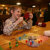 Jacob Enos, 8, knitting at the Cape Ann Brewery. Photo by Kate Glass