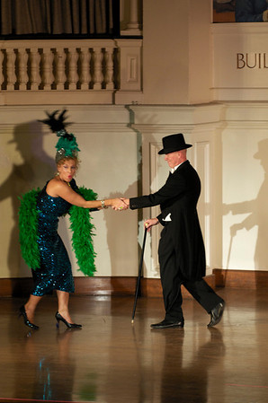 Dale Theberge and Richard Leonard perform Presents for Mrs. Rogers during the Bananas Fashion show to help restore Gloucester City Hall.   Photo by Desi Smith