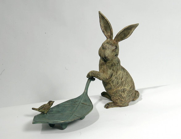 Here's one rabbit that won't eat the vegetables or the flowers in your garden, $45. Sea Meadow, Essex.