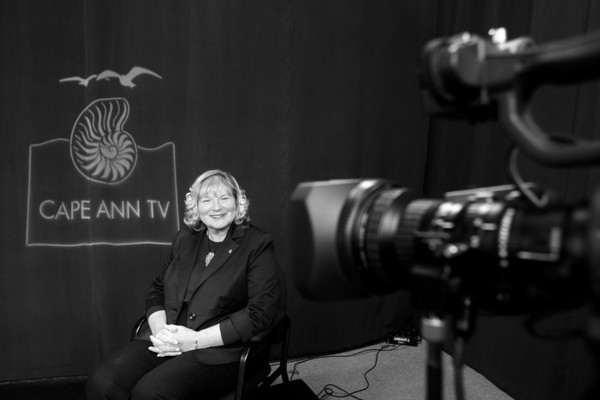 Sinikka Nogelo, Executive Director of Cape Ann TV, will be retiring. Photo by Kate Glass