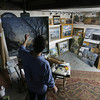 Roger Darrigrand/Cape Ann Magazine Artist Ken Knowles at his Rockport studio.