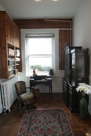 A room on the first floor of Webster's home with a window overlooking Granite Pier. Photo by Mary Muckenhoupt