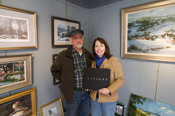 """David and Line' Tutwiler, who have a gallery in Rockport, were commissioned by George Lucas to do several paintings for """"Star Wars Visions.""""<br /> Photo by Kate Glass."""