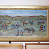 Painting from the early 1900s of Myopia Country Hunt Club at AnnTiques in Essex $295